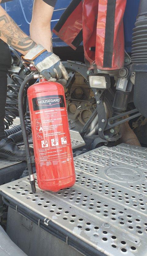 GAMMELT: Dette brannslokningsapparatet var utgått på dato.