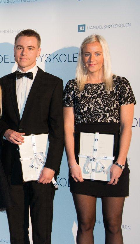 BEST I KLASSEN: Henrik Norem og Sissel Jacobsen
