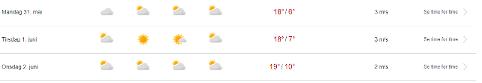 SOL OG VARME: Det er lite som slår en god sommerdag i Tromsø. Dette er værmeldingen for neste uke.