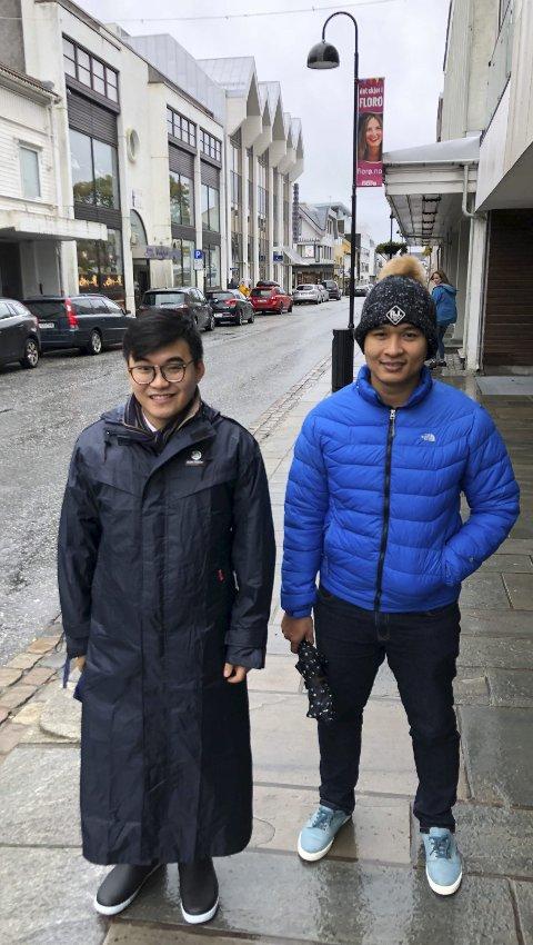 VIETNAM-besøk: To Mercatus-programmerarar, Thanh og Khanh.,