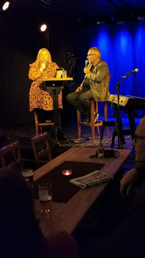 MELODI GRAND PRIX: Under intervjuet med Ove Mellingen fortalte Lena Barth Aarstad om sin fascinasjon for Melodi Grand Prix. foto: ørjan madsen