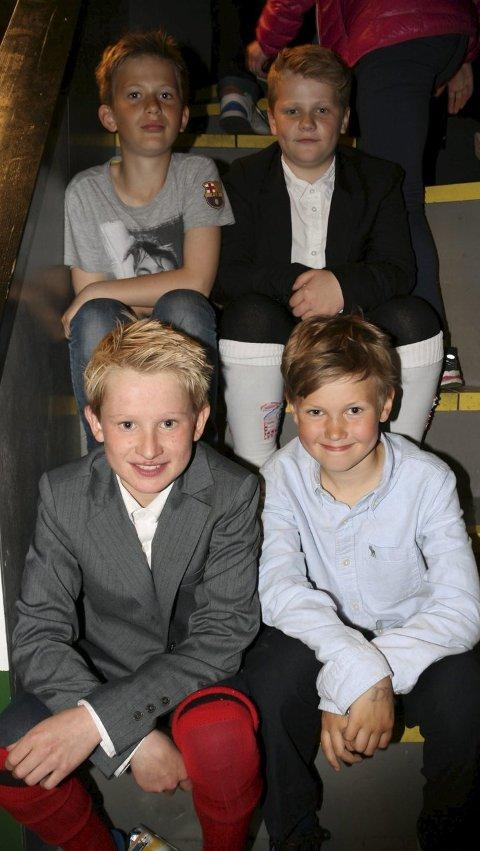 5. TRINN: Elias (bak f.v.), Marius, Johannes (foran f.v.) og Jesper.