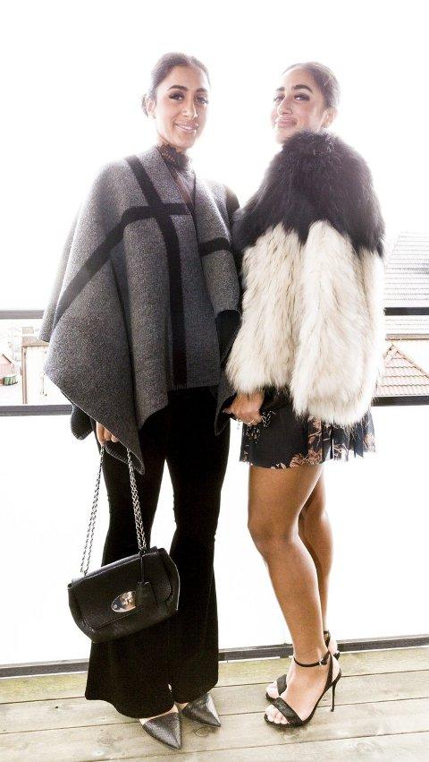 Jakke: Poncho og pels er nøkkelplagg i vinter.