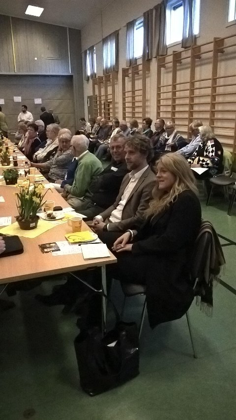Hilde Frafjord Johnson og Jan-Tore Saltnes