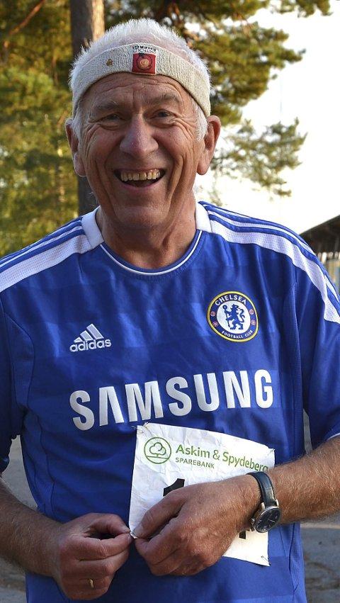 ALLTID BLID: Den ivrige superveteranen Hans Georg Øverby (68) løper og har løpt flere mosjonsløp enn de fleste.