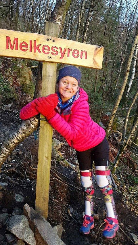 Rikke Ullmann (13) fikk et nytt gir da hun passerte Melkesyren.