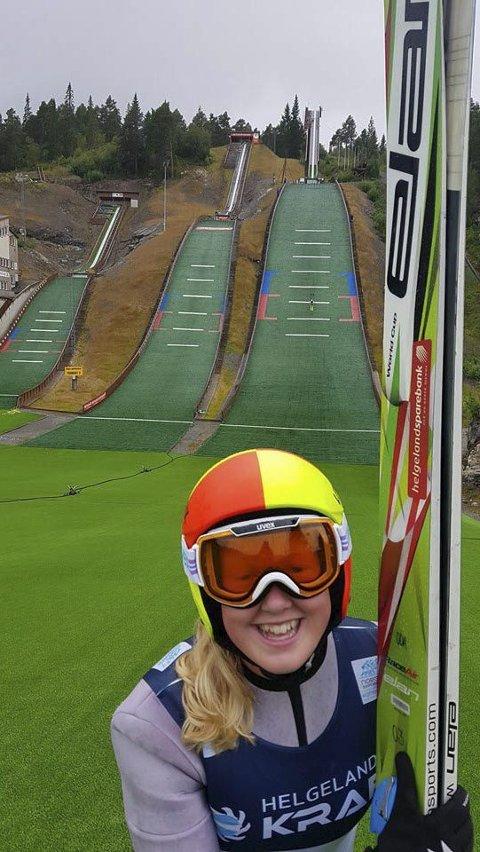 I toppen: Oda Leiråmo kom på femteplass i sommer-NM. Nå skal hun til Tyskland der hun møter konkurrenter fra mange nasjoner. Foto: Privat
