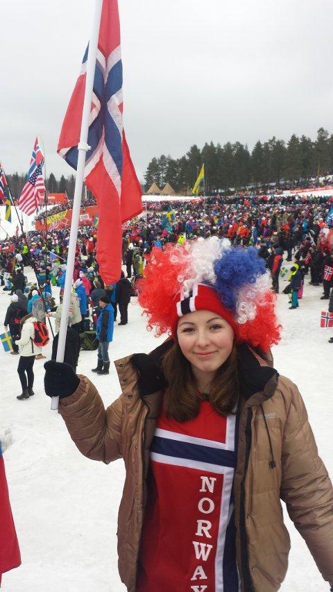 IVRIG SUPPORTAR: Sofie vart omtala som kanskje Noregs mest ivrige supportar av VGTV.