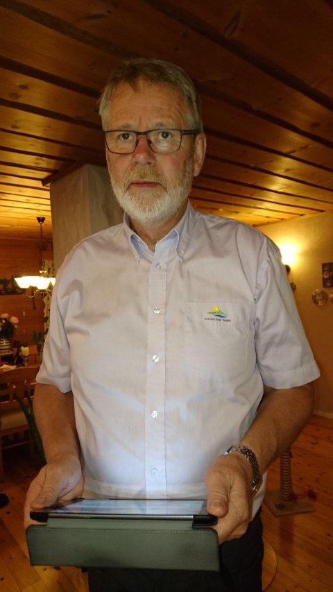 – Eg trur det er første gong i historia Høgre har vore størst i eit stortingsval i Masfjorden, seier Høgre-ordførar Karstein Totland i Masfjorden. Han følgjer spent med på valet frå si eiga stove i kveld.