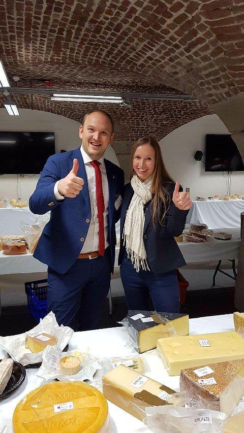 Landbruks- og matminister Jon Georg Dale og næringsbyråd Julie Andersland.