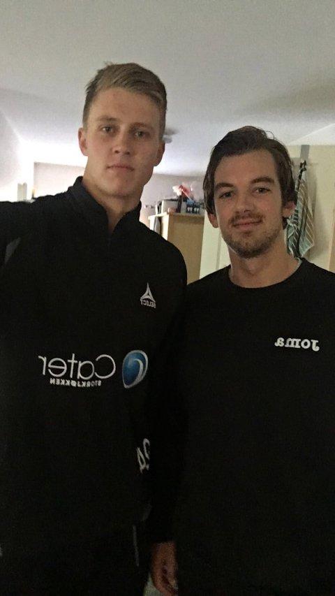 SAMBOERE: Hermann Vildalen (t.v.) og Øyvind Frigstad spiller for hver sin klubb, men bor under samme tak.