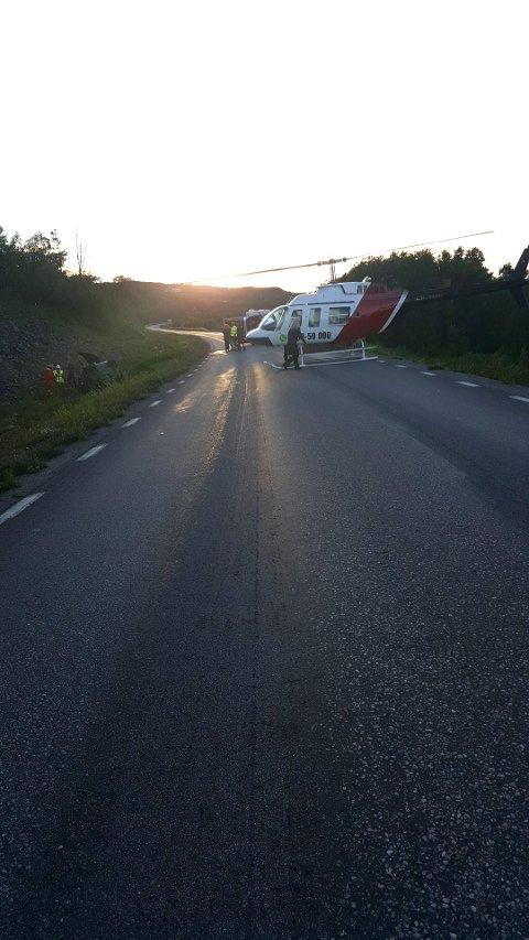 UTFORKJØRING: En svensk mann døde av skadene han pådro seg da han kjørte av veien like i nærheten av Björkliden.