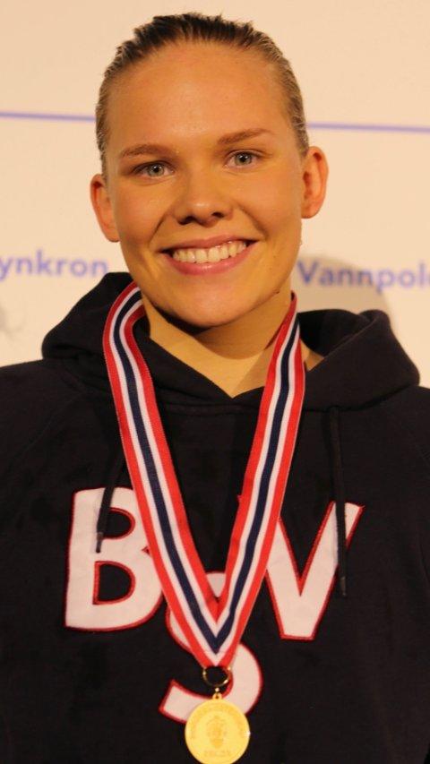 I RUTE: Med helgens gullfangst viser Ingeborg Vassbakk Løyning god form i forkant av EM. Foto: Privat