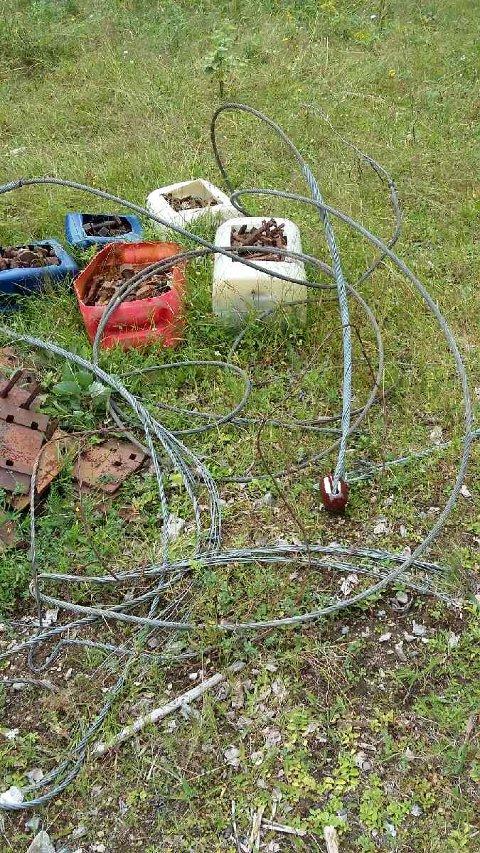 SØPPEL: Det ligger mye søppel henslengt i skogen ved Gran Tre.