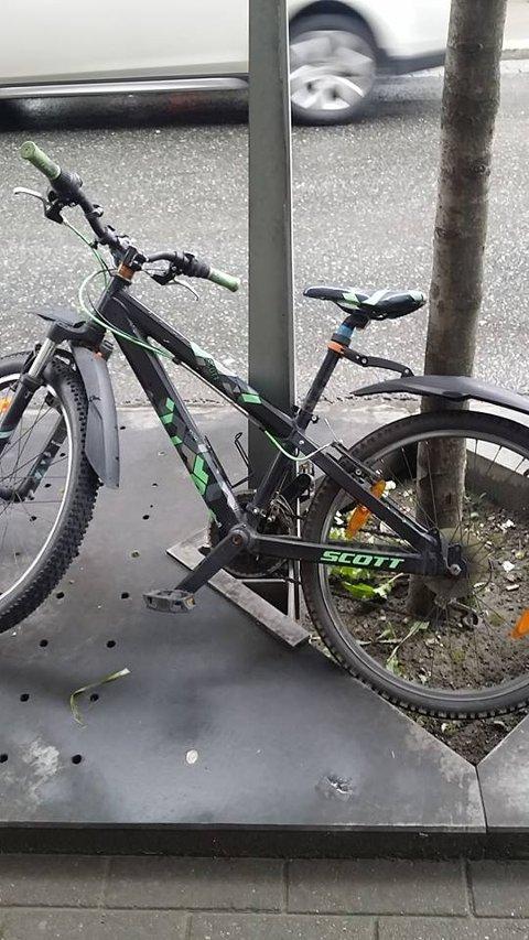 FUNNET: Leonard stjålne sykkel ble raskt funnet etter en etterlysning på Facebook.