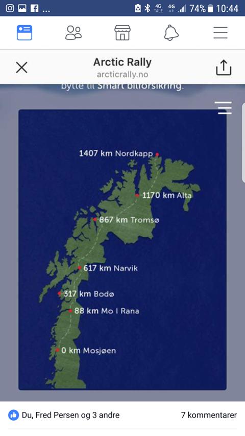 ARCTIC RALLY: Spillet skal ta deg fra Mosjøen til Nordkapp.
