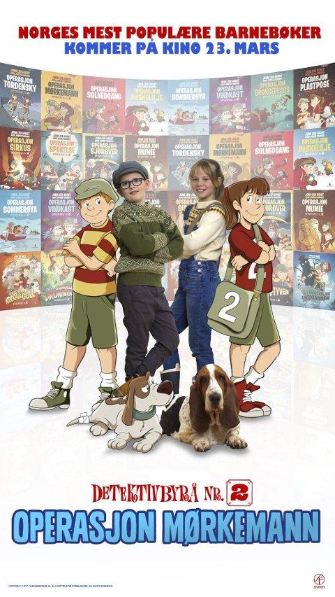 PREMIEREFILM: «Operasjons Mørkemann» er basert på Jørn Lier Horsts barnebøker om «Detektivbyrå nr. 2». Men hva heter de unge heltene?