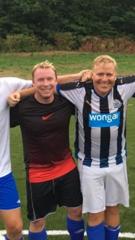 SAVNER TRENINGSFELTET: A-lagstrenerne Andre Jacobsen (t.v.) og Daniel Torp savner fotballen og miljøet rundt 4. divisjonslaget på Lovisenlund.
