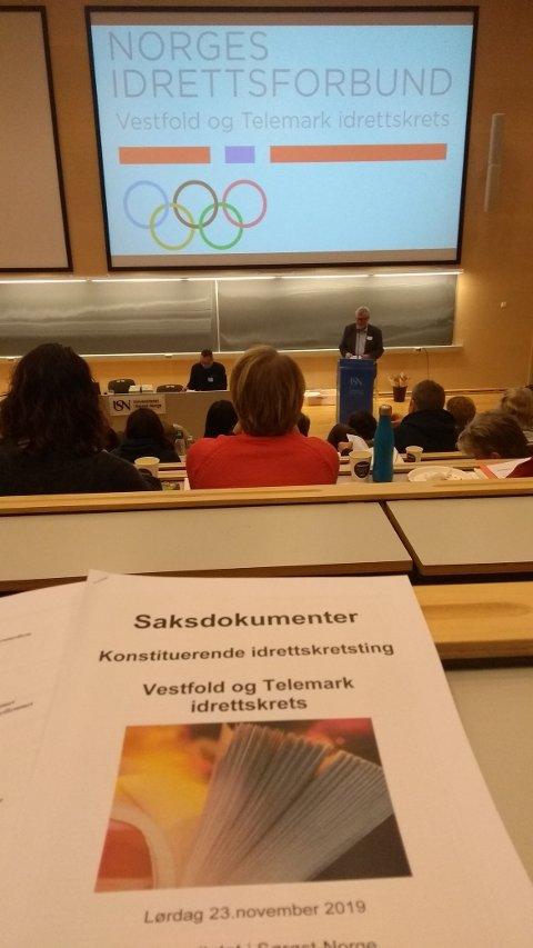 NY LEDER: Den nye Vesytfold og Telemark idrettskrets starter sitt virke 1.1. 2020, og fikk en ryddig stiftelse med som start.