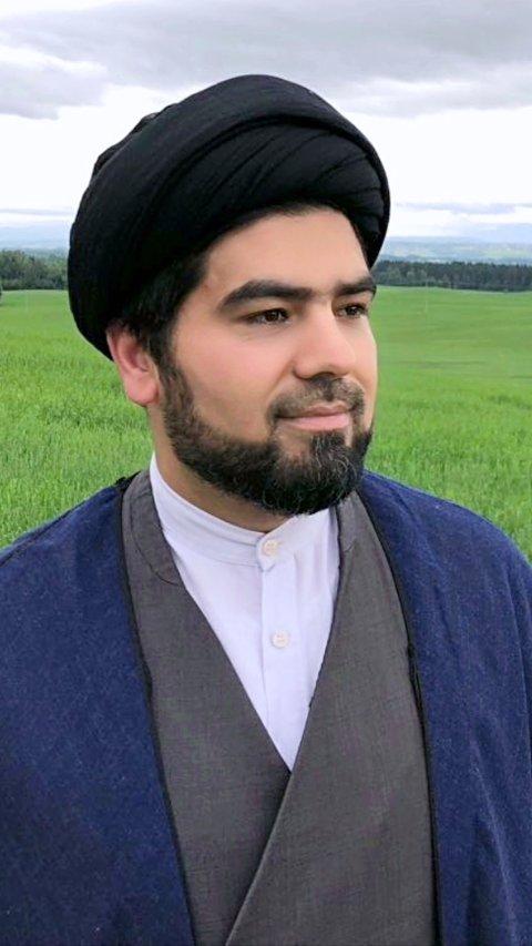 FOKUSPÅFRED:Imam Sayed Masih Soltani i Kawther Al-nabi islamsk senter, som har kjøpt lokaler på Holum skog.