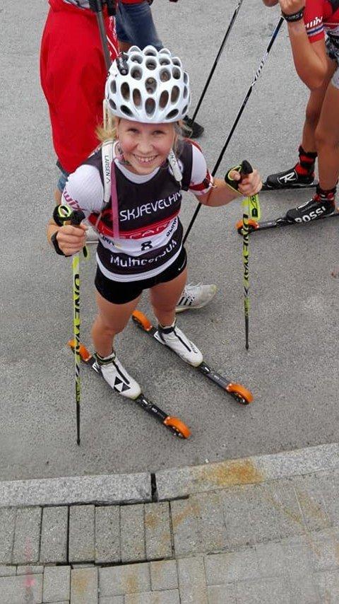 ANDREPLASS: Ingrid Baasland Solbjørg tok en god andreplass i skiskyting lørdag.