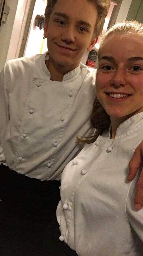 Victoria og Sebastian gikk sammen på kokk og servitør i Kongsberg