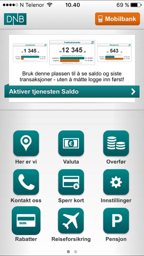 Mer trøbbel: DNB har trøbbel med både mobilbank og nettbank torsdag. Vipps-funsjonen er også nede.