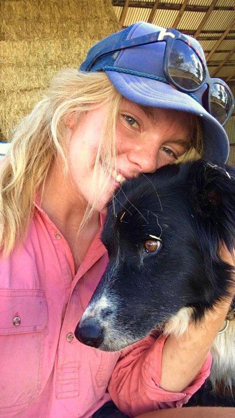 13 HUNDER: Med 13 hunder på gården ble hund en naturlig lidenskap for Anne-Guro i Australia.