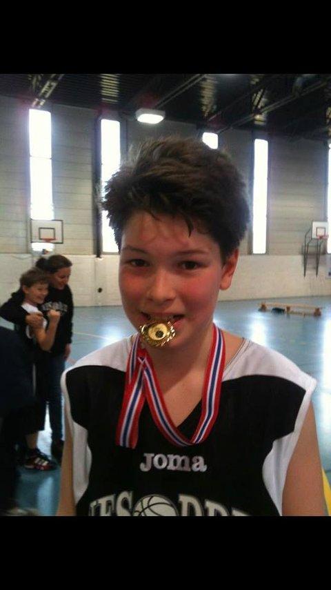 William etter å ha vunnet en kamp i ung alder
