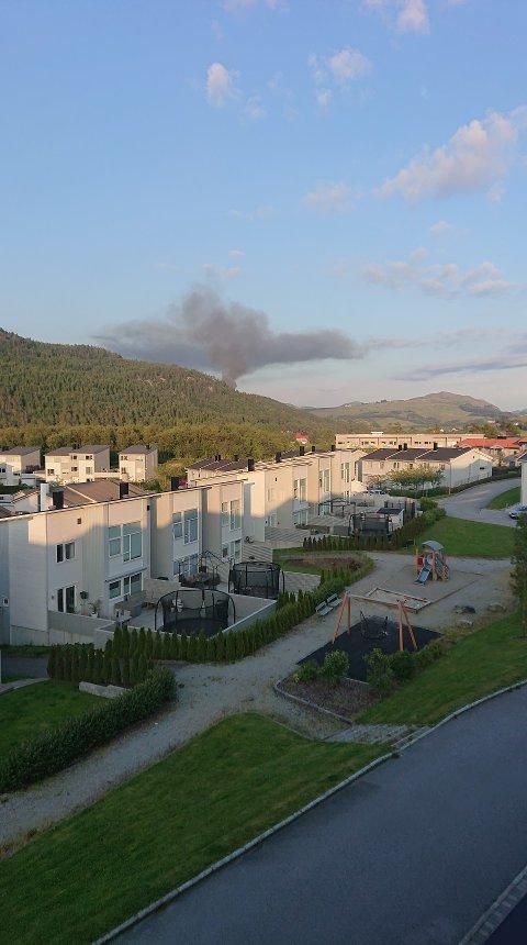 RØYKSKY: Røykskyen fra Bråstein sett fra Bogafjell