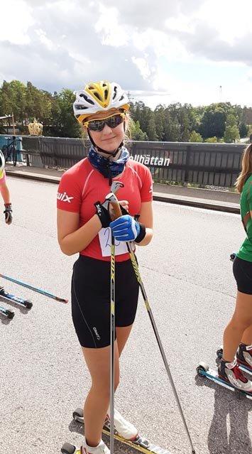 FORNØYD: 15-årige Karin Selma Larsen var fornøyd med innsatsen blant junior-damene.