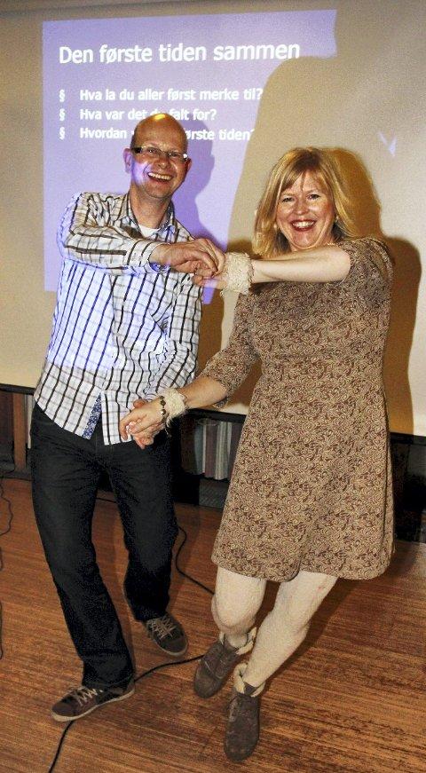 EN ANNEN DANS: Eiel Holten og Bjørk Matheasdatter er godt kjent i Sofiemyr kirke fra mange kjærestekurs de siste årene.   FOTO: STIG PERSSON