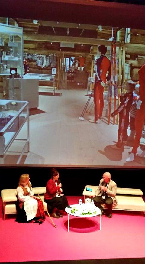 Slik så det ut i Museum of Contemporary Art i Zagreb fredag formiddag da Rindal presenterte seg.