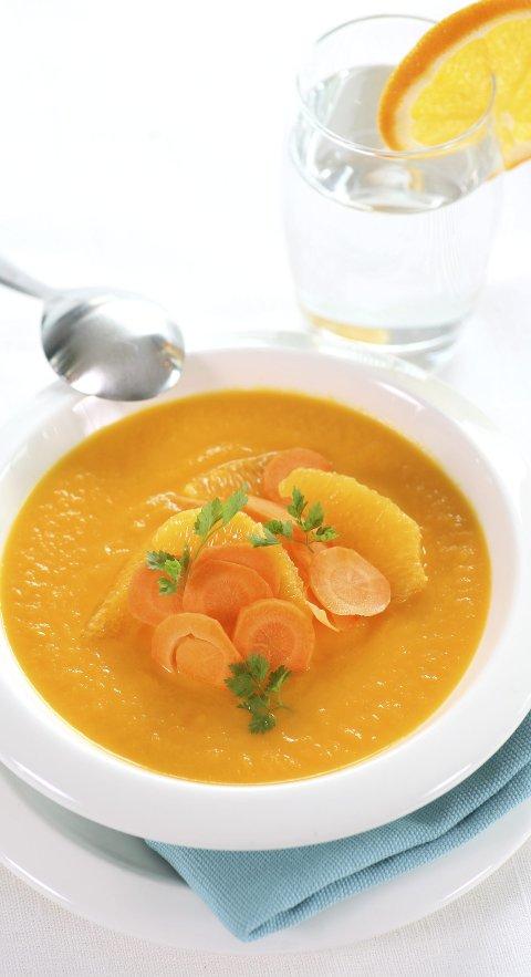 PIRRENDE: Gulrotsuppe med sjalottløk og appelsin vil neppe gjøre påsken din dårligere.