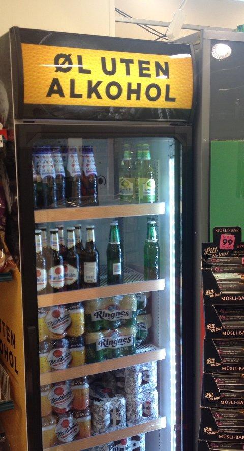 Ølkjøleskåpet på Coop Mega i Førde sentrum