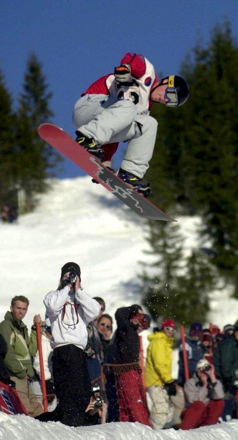 2002: Peter Molin i aksjon i halfpipe i Hemsedal. Der ble han fjerdeman.foto: ole john hostvedt