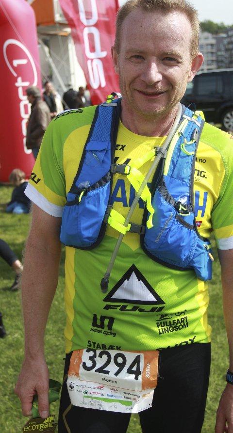 UTHOLDENDE: Morten Andersen har København Triatlon som sesongens store mål. Han brukte Oslo Ecotrial som oppkjøring til det arrangementet.