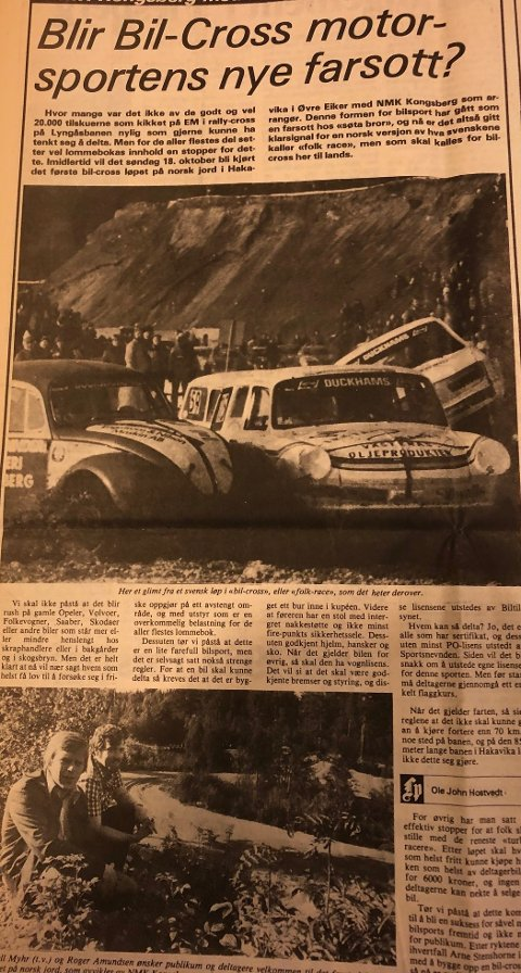 FAKSIMILE: Jeg fikk rett i det jeg skrev i september 1981om at bilcross kom til å bli en folkesport.