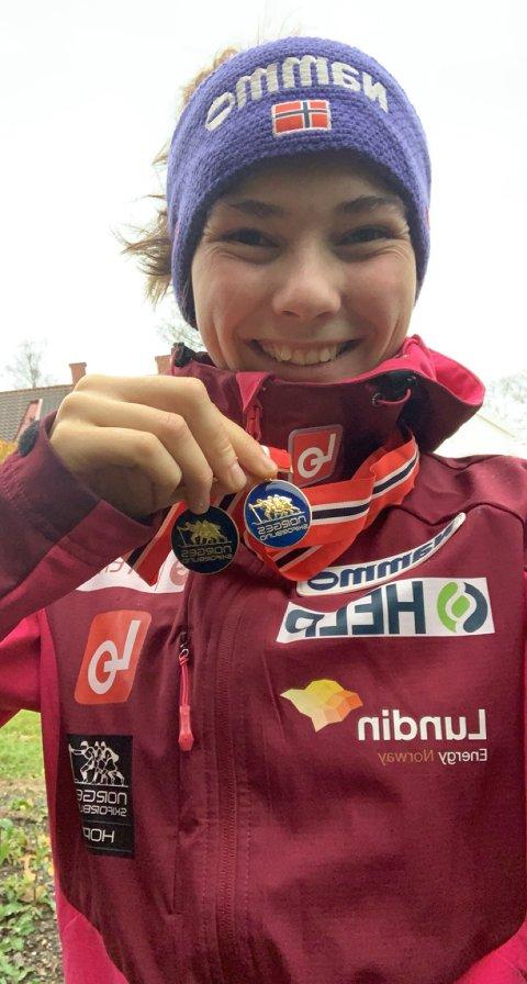 MEDALJE: Silje Opseth sikret seg en ny NM-medalje i Granåsen i Trondheim.