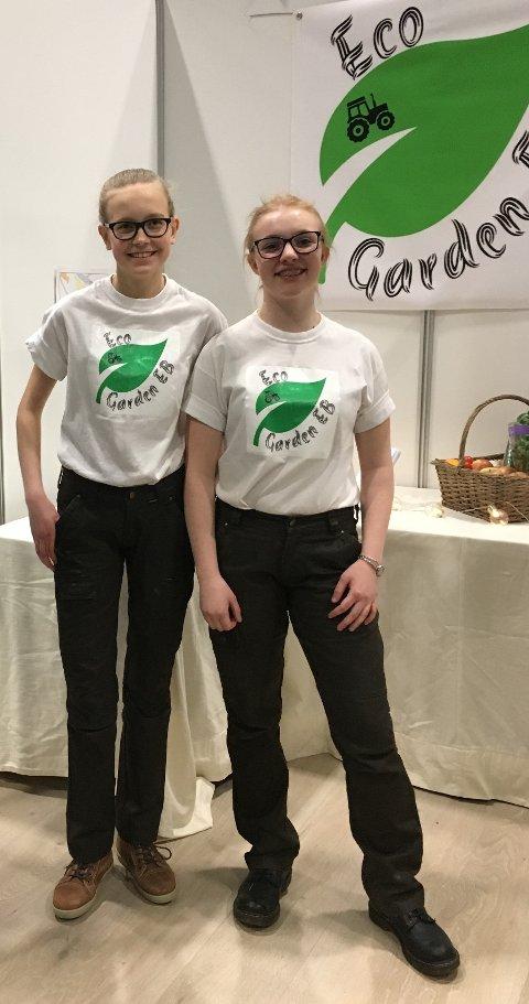 """Beste tjeneste: Eco Garden vant pris i kategorien """"Beste tjeneste""""  (t.v.) Inga westby og Rachel Arnesen."""