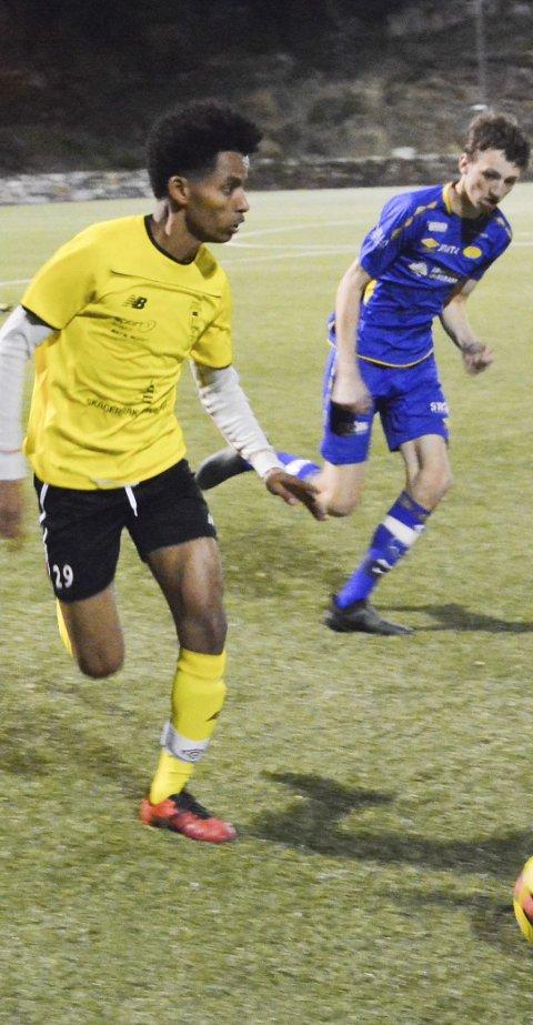 Meget god: Kragerøs Ahmed Yassin Hamid gjorde en solid kamp på bortelagets midtbane.