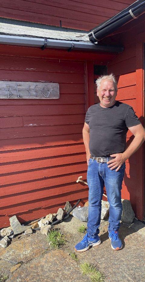 Jan Tyssebotn er vert på Besso.  Til dagleg bur han på Espe i Ullensvang.