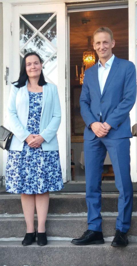 Fint møte: Det ble et fint møte mellom Lajla Halvorsen og Eirik Kristoffersen. Foto: PRIVAT