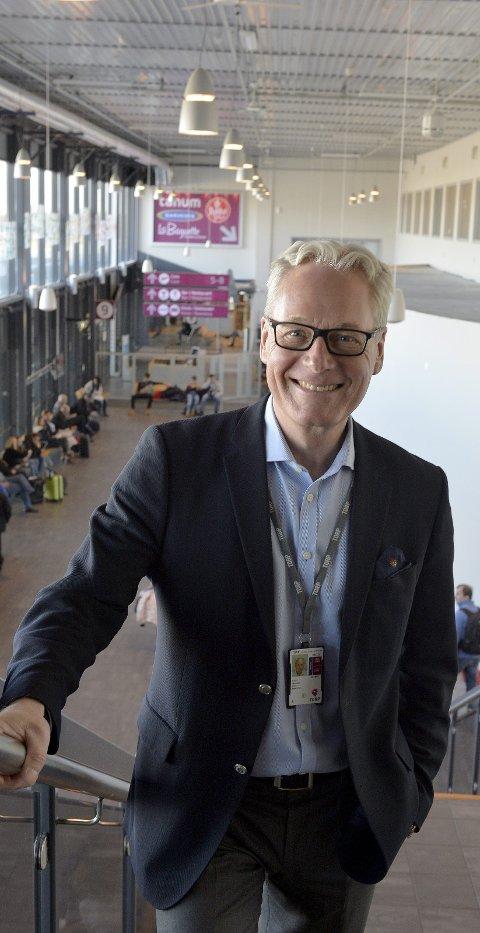 Glad og lettet: Administrerende direktør Gisle Skansen ved Torp Sandefjord Lufthavn Torp er lettet over lagmannsrettens avgjørelse. Men overrasket er han ikke. Arkivfoto: Kurt André Høyessen