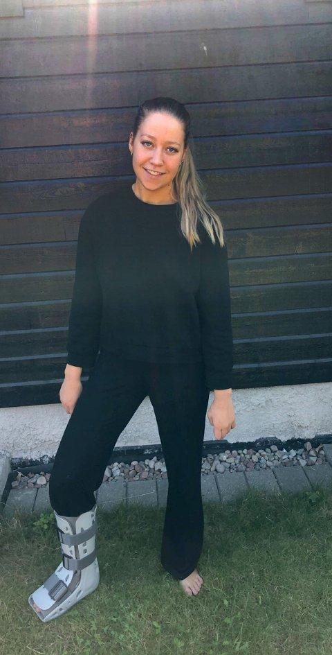SPENT: Thea Øby-Olsen innrømmer at hun er spent på hva MR-undersøkelsen viser.