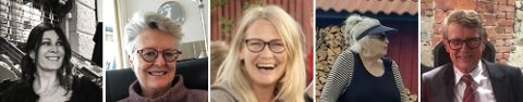 De fem som ble drept på Kongsberg onsdag var f.v. Andréa Meyer, 52 år, Liv Berit Borge, 75 år, Hanne Merethe Englund, 56 år, Gun Marith Madsen, 78 år og Gunnar Erling Sauve, 75 år.