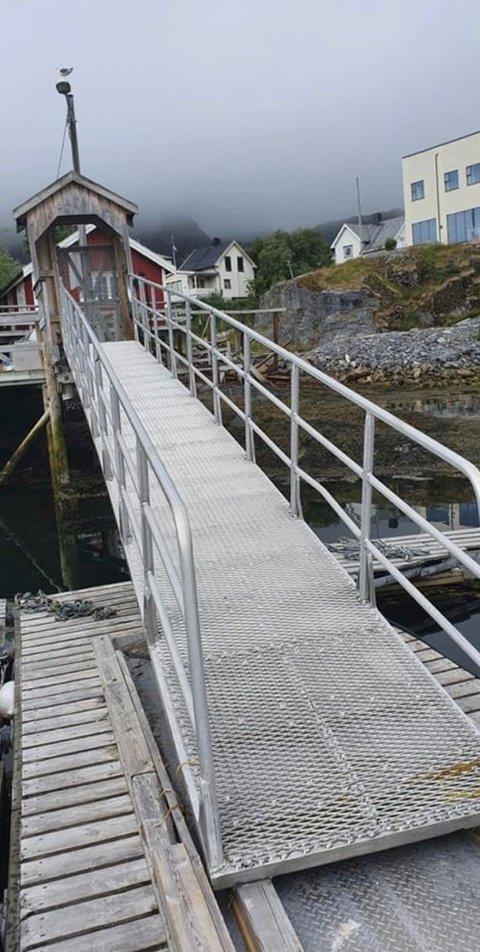 Dette er landgangen som ble stjålet fra Hammerfall i Sørfold.