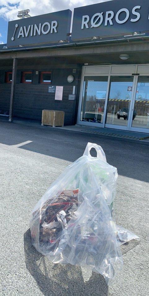 VÅRFINT: Røros Lufthavn er ryddet og klar for sommer.