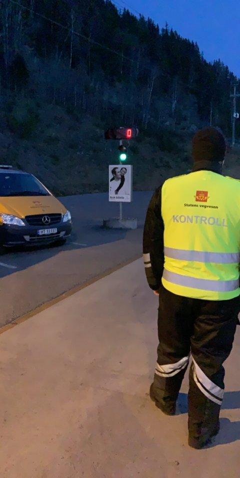 Statens vegvesen avholdt en større kontroll på Kalplassen tirsdag.