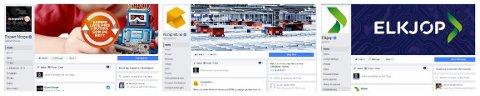 Slik ser en ekte Facebook-side ut. Legg spesielt merke til det blå verifiseringssymbolet til venstre.